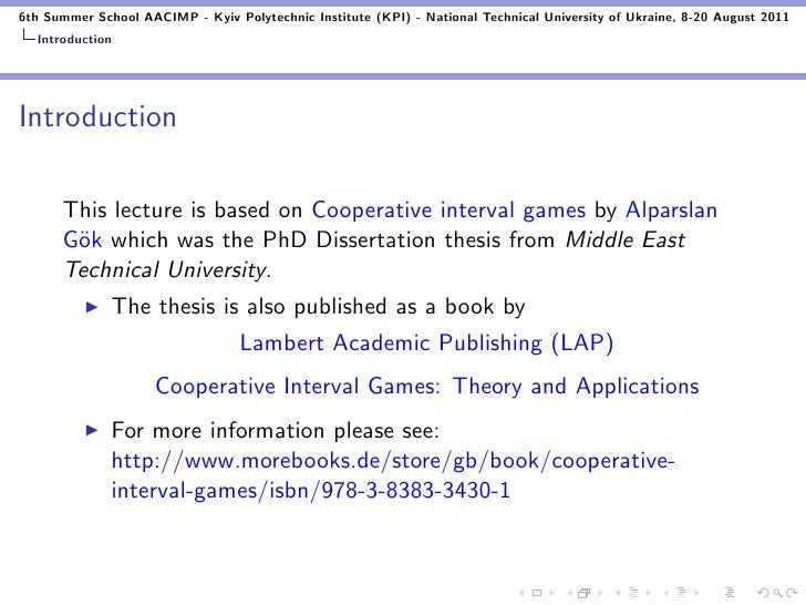 applications of game theory in operations research