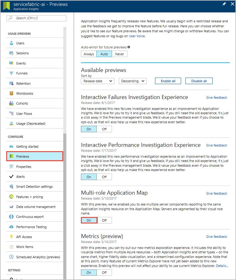 asp net core application insights