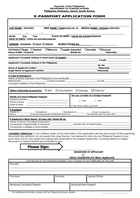 australian passport application form pdf