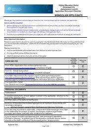 australian student visa application form checklist