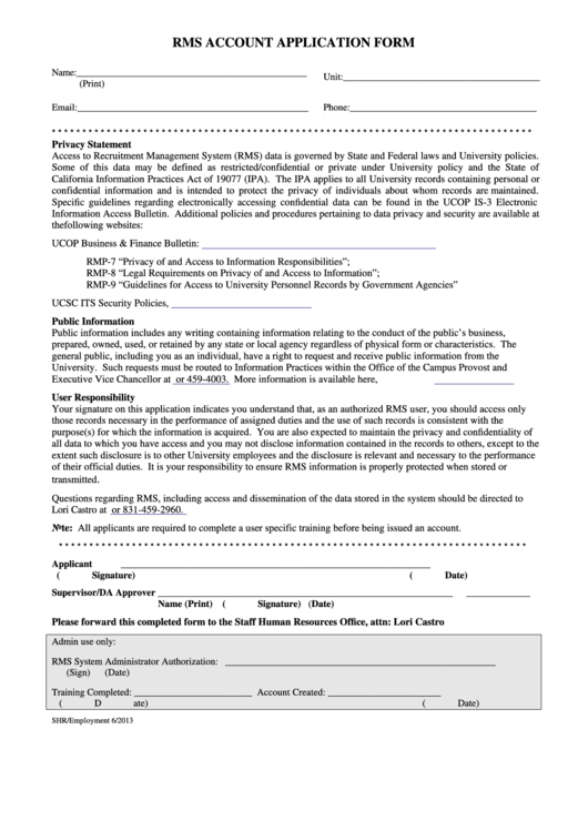 account application form template free