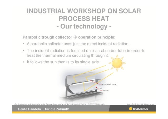 solar industrial process heat applications