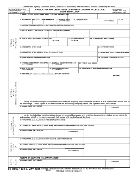 defence common access card application form
