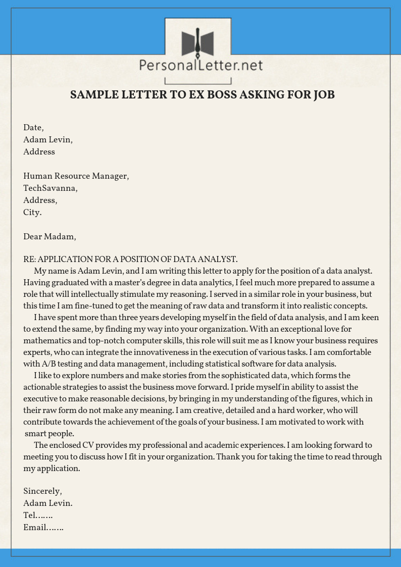 how to write an open application letter