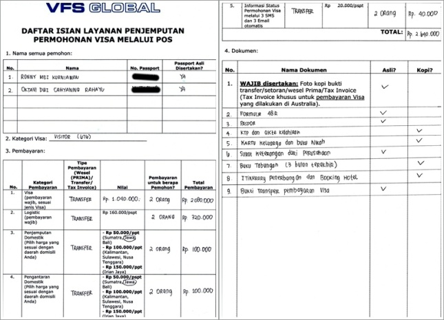 vfs australia visa application status