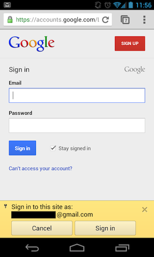 2 step verification application specific password