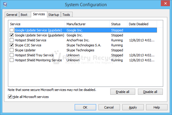 disable uac prompt for a single application