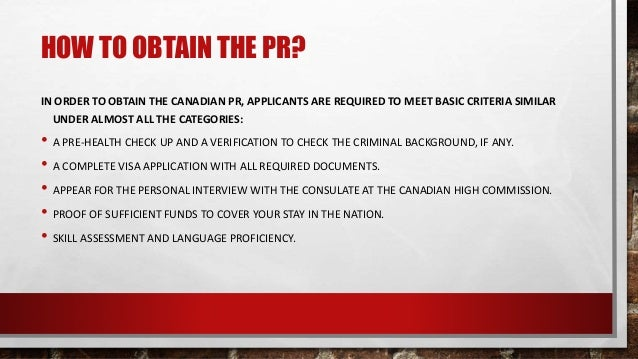 check status of permanent resident application canada