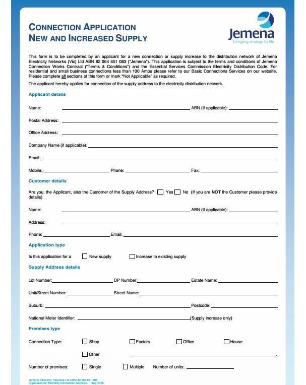 indane gas connection application form