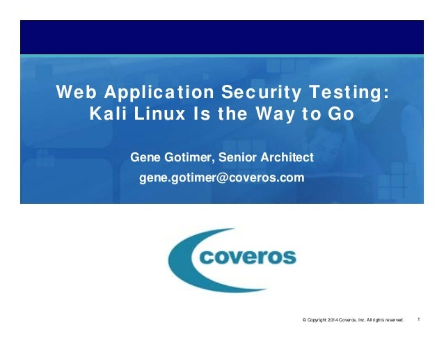 security testing techniques for web application