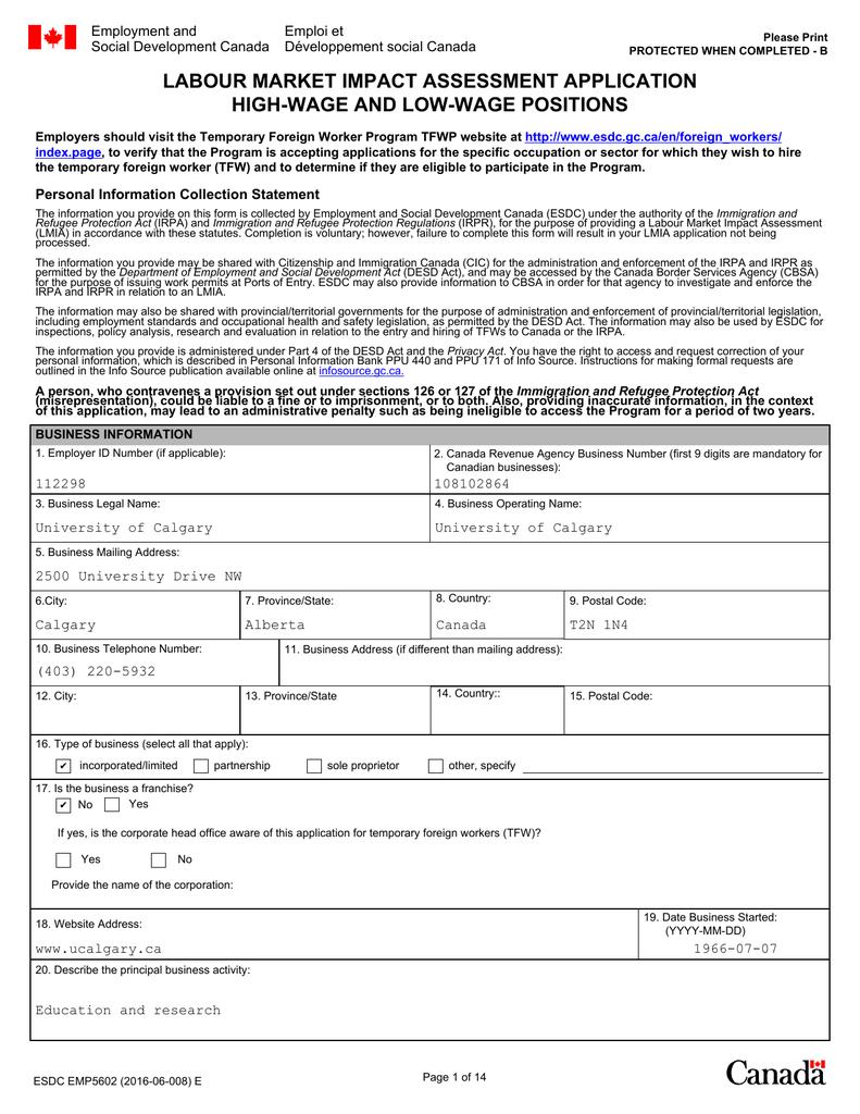 canada temporary visa application form
