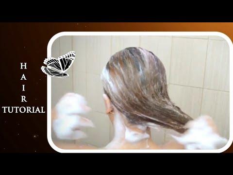 castor oil application for hair