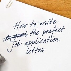 perfect cover letter for job application