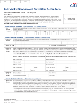 citibank credit card application form