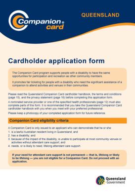 companion card application form qld