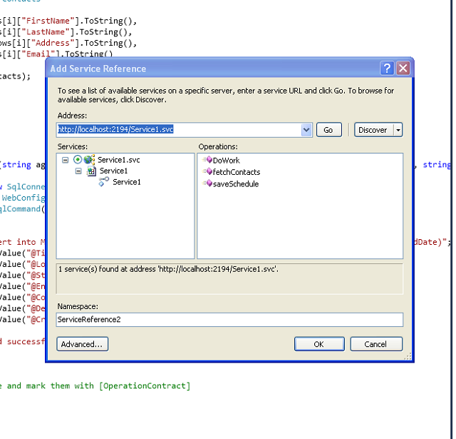 consume wcf service in wpf application