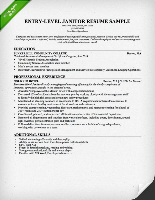 cover letter for cleaning job application