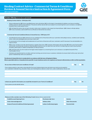 credit application form terms and conditions