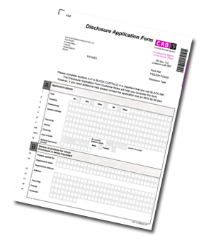 criminal record check application form