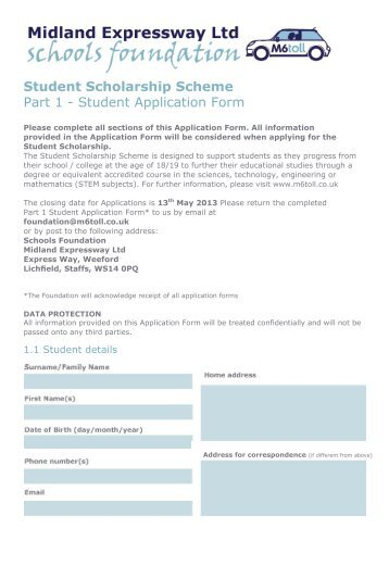scholarship application form template doc