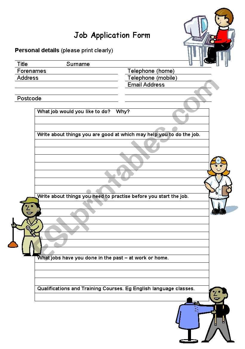 how to write a good job application form