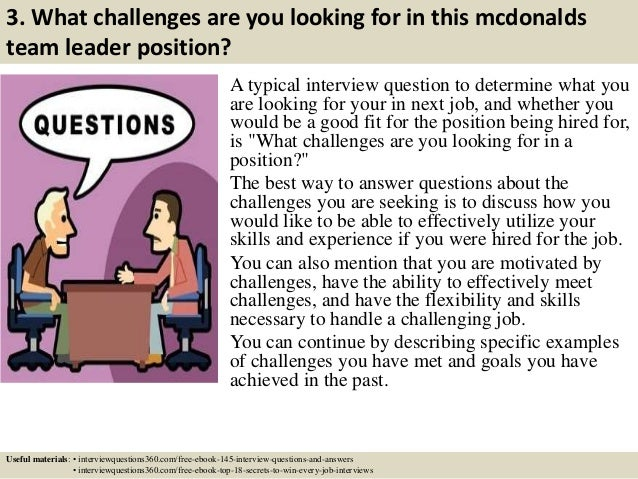 mcdonalds job application questions answers
