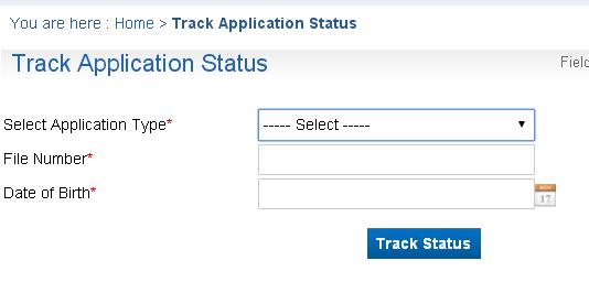track passport application india vfs