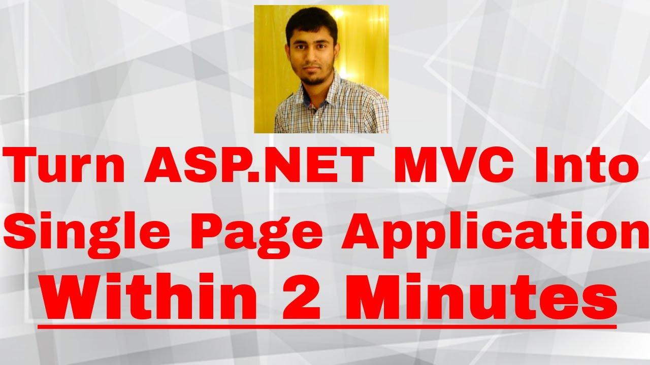 single page application vs mvc