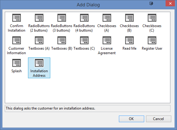 wix installer for web application