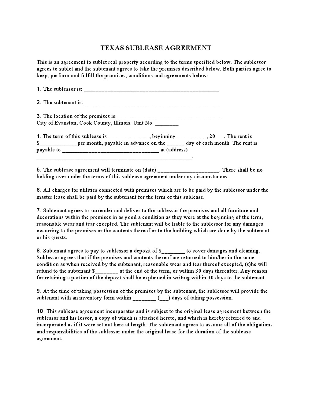 rental application form washington state