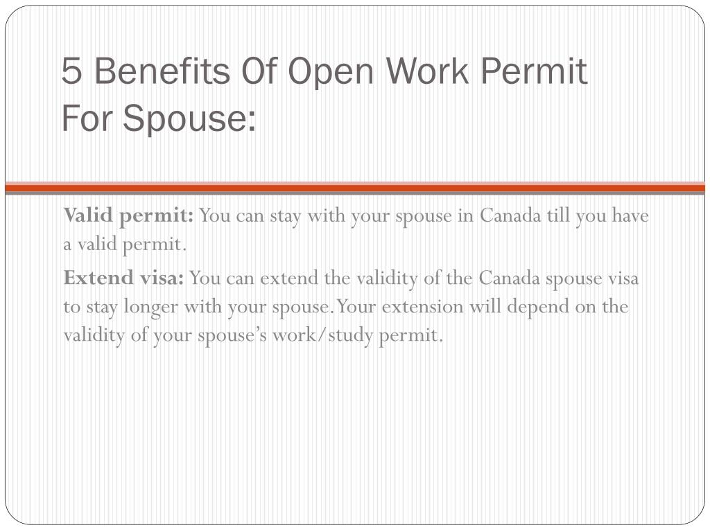 open work permit application canada