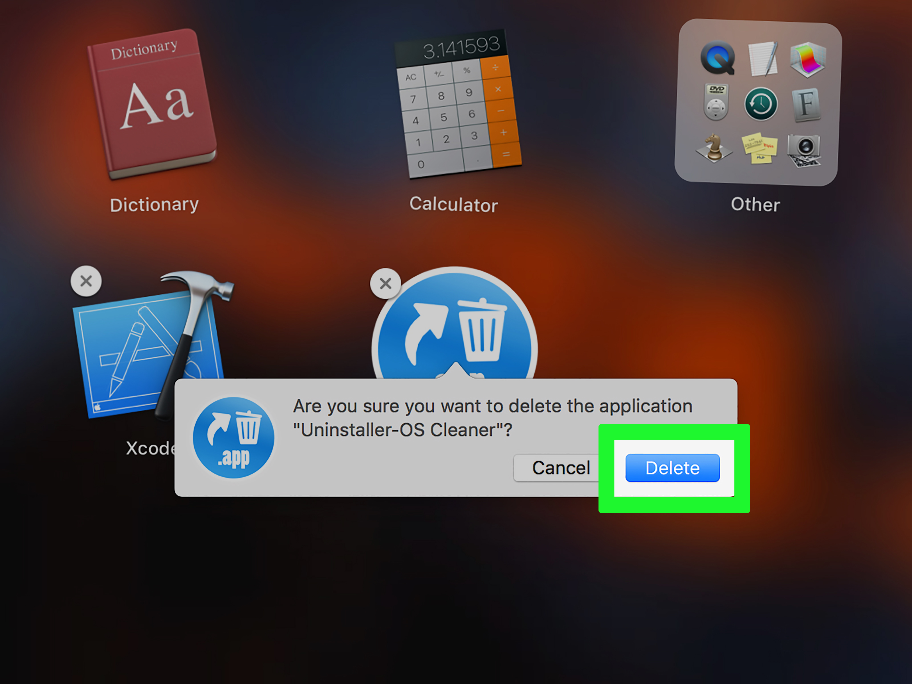how to remove applications mac