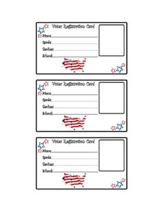 election voting card application form