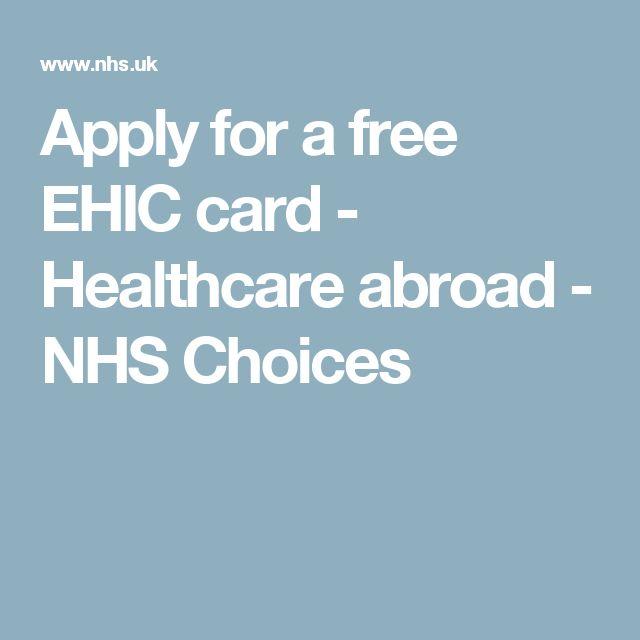 european health insurance card application form ie