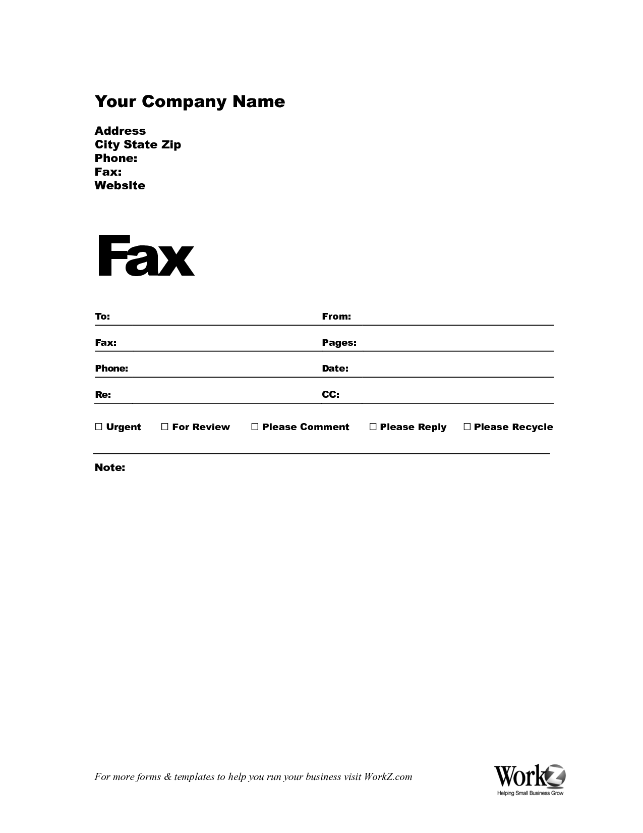 example of fax cover sheet for job application