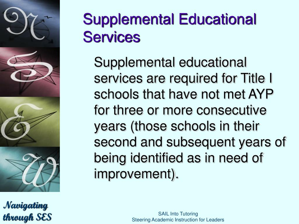 supplemental educational services provider application
