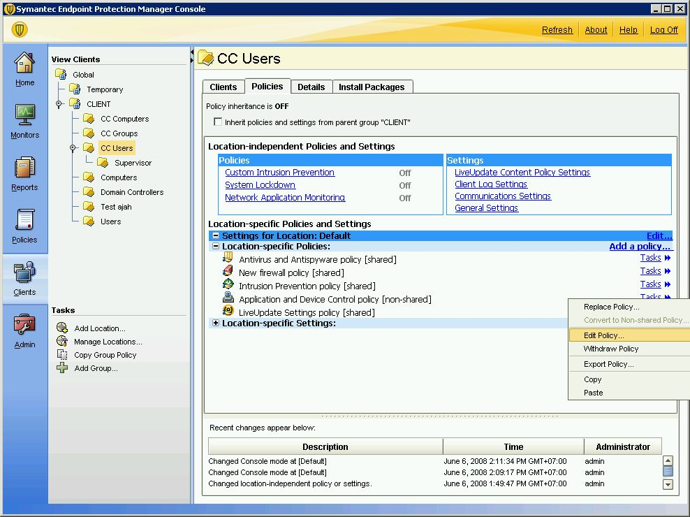 how to add application exception in symantec endpoint protection