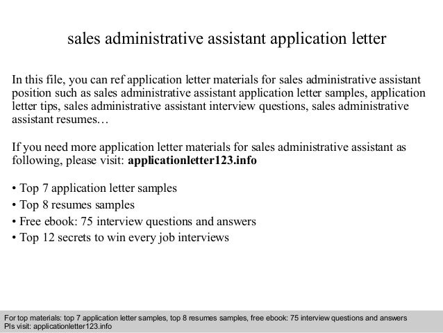 application letter for administrative assistant