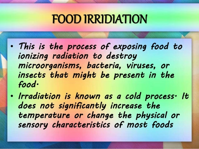 application of radiation in agriculture