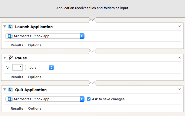 automator launch application at specific time