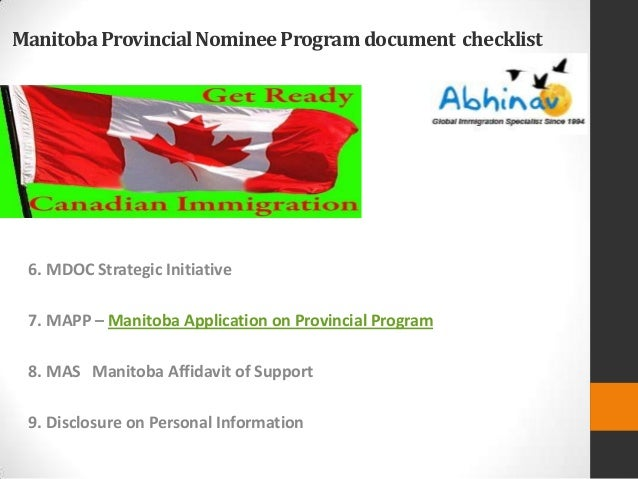 manitoba provincial nominee program application form