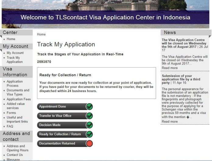 track my german visa application