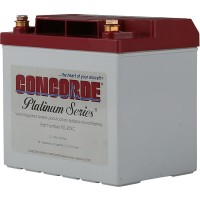 concorde aircraft battery application chart