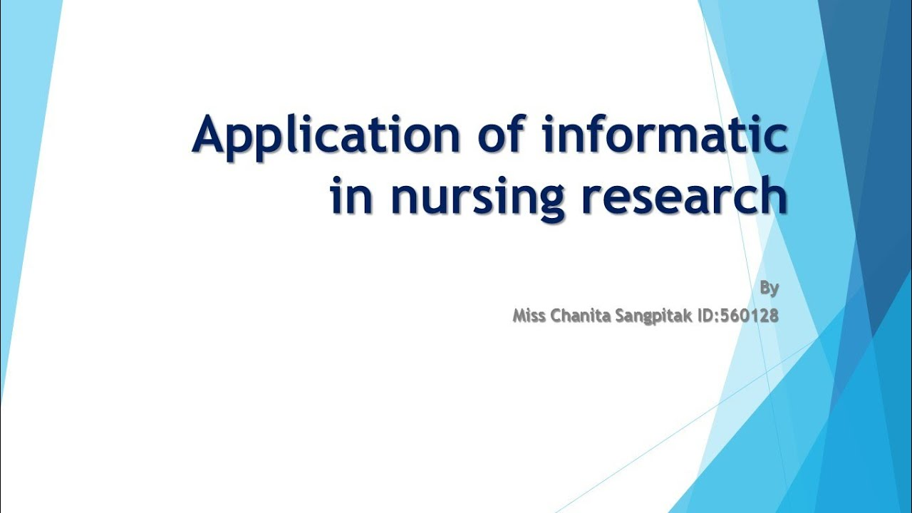 community health application nursing informatics
