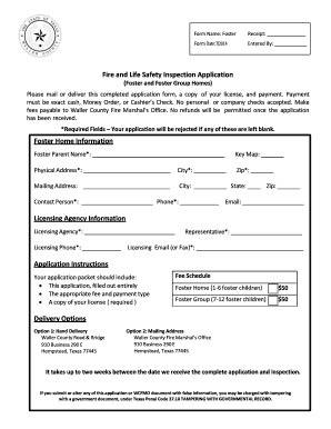 fire safety certificate application form