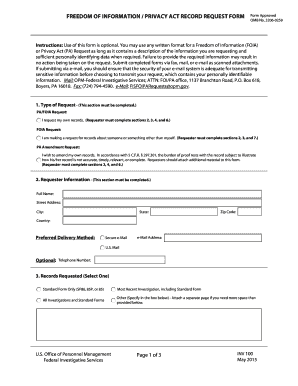 freedom of information act application