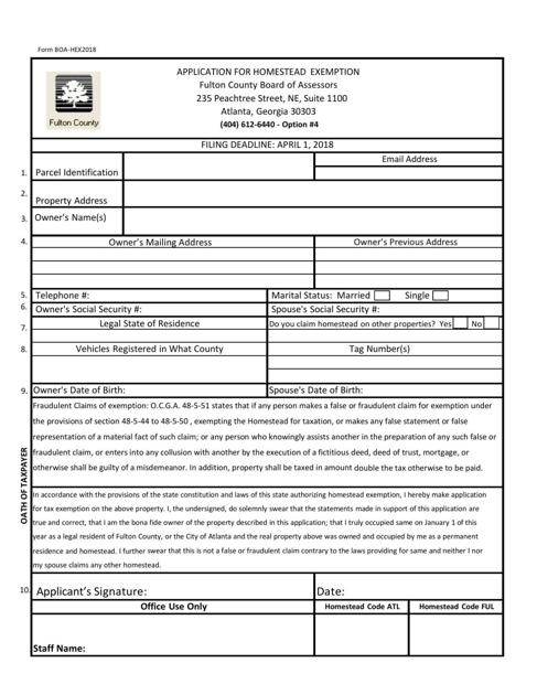 fulton college application form 2018