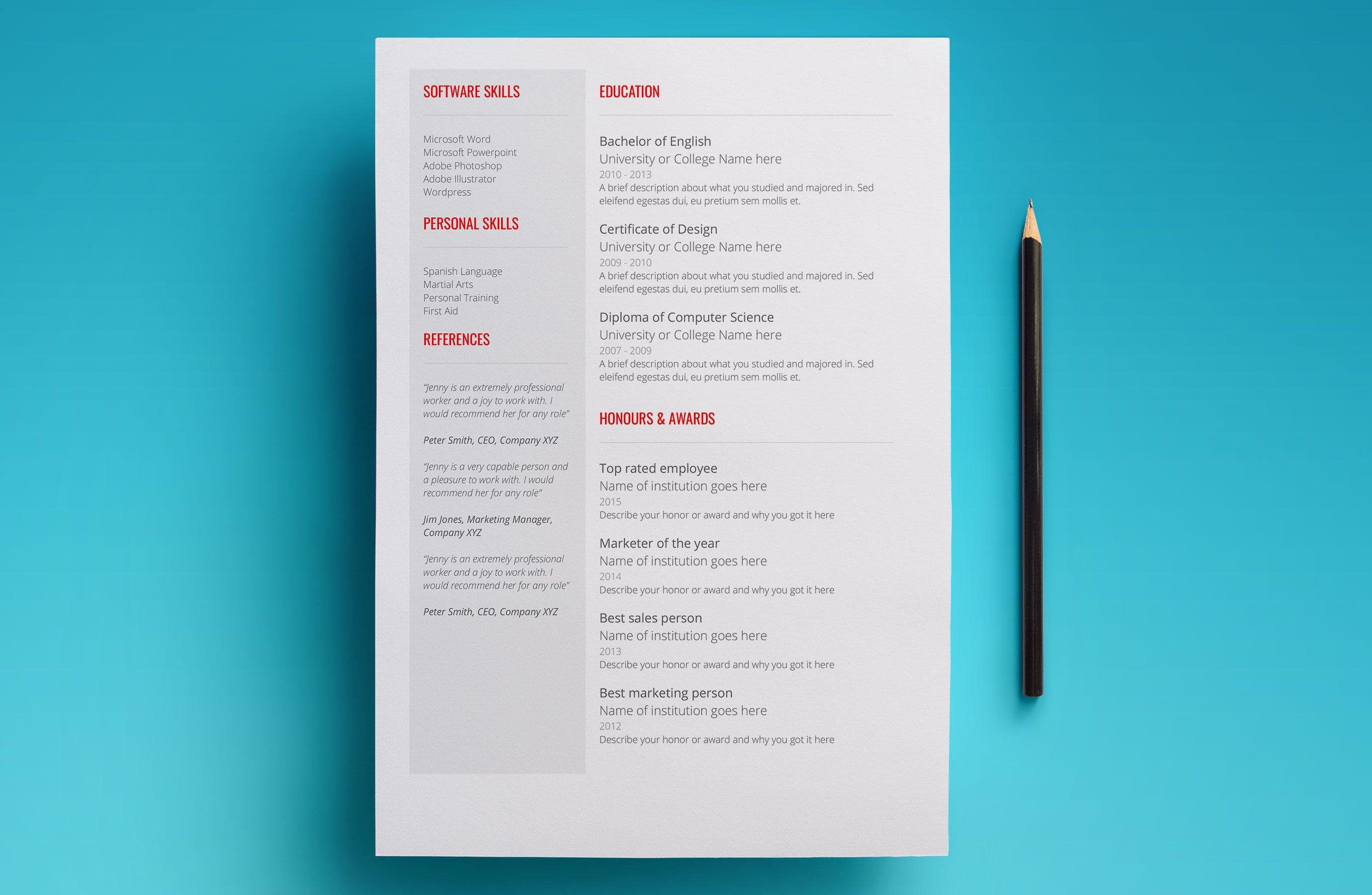 google docs job application template