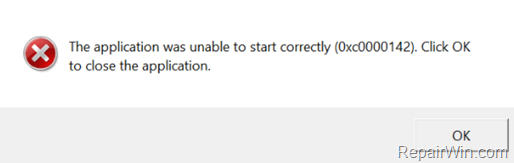 how to fix the application was unable to start correctly