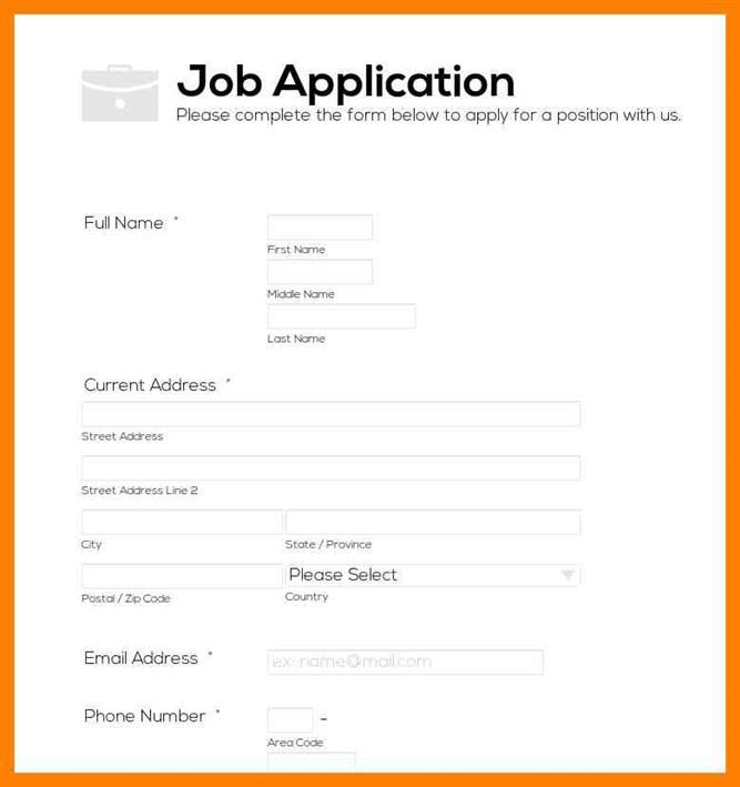 how to make a job application form